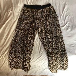 Zara leopard elastic cropped pants